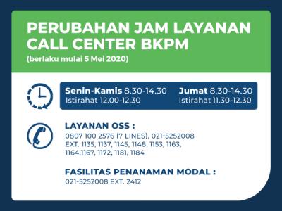 Dpmpt Perubahan Jam Layanan Call Center Bkpm Ri